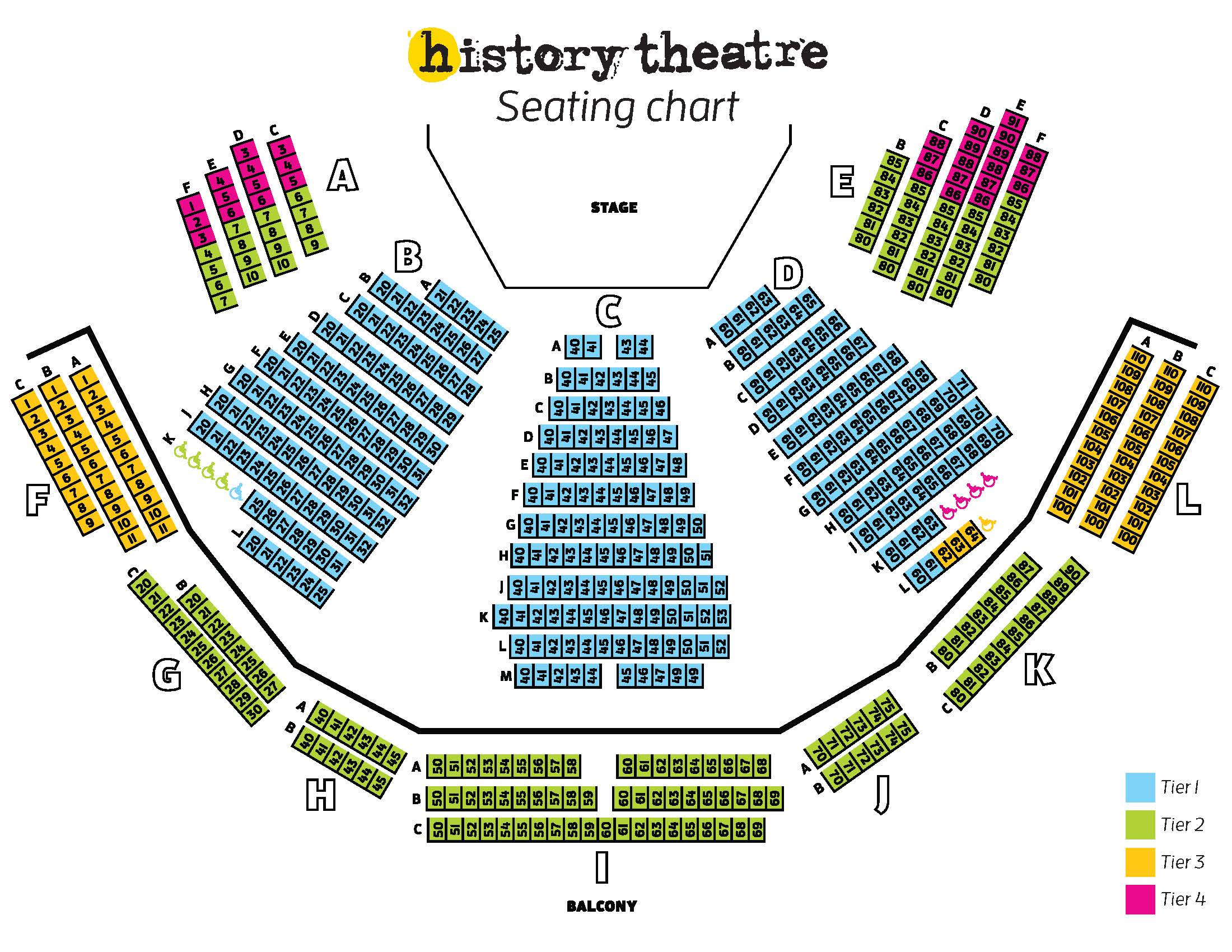 Seating Chart | History Theatre